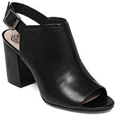 Vince Camuto Brianny Leather Slingback Peep-Toe Block Heel Shooties
