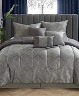 Idea Nuova Black Paisley Jacquard Seven-Piece Comforter Set