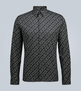 Fendi Karligraphy cotton poplin shirt