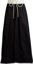 Chloé Gathered-waist cotton maxi skirt