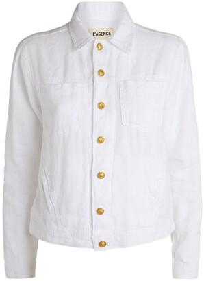 L'Agence Celine Linen Jacket