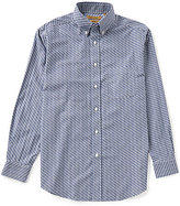Roundtree & Yorke Gold Label Big & Tall Perfect Performance Non-Iron Long-Sleeve Check Sportshirt