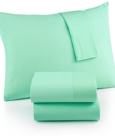Martha Stewart CLOSEOUT! Whim by Collection Twin 3-pc Sheet Set, 100% Cotton Percale