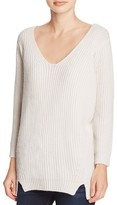 Elie Tahari Violetta Ribbed Cashmere-Wool Sweater