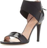 Stuart Weitzman Sexyflex Leather Stretch Sandal, Black