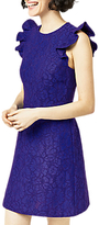 Warehouse Frill Sleeve Lace Dress