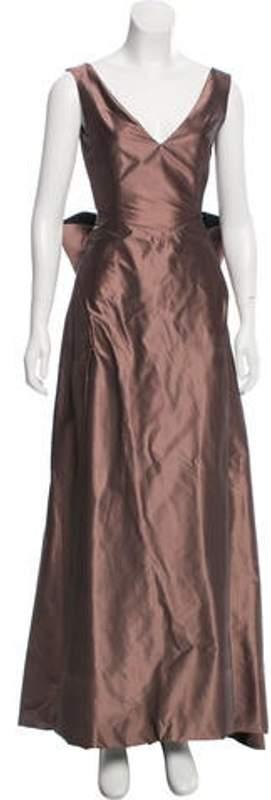 Richard Tyler Silk Evening Gown brown Silk Evening Gown