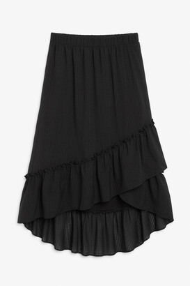 Monki Sheer midi skirt
