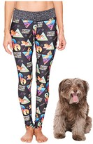 Puppies Make Me Happy Puppies Fitness Leggings (Multi) Women's Casual Pants