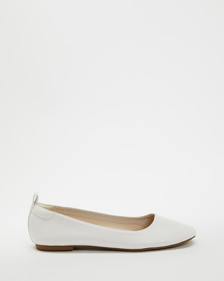 Therapy Women's White Ballet Flats - Angelina - Size 7 at The Iconic