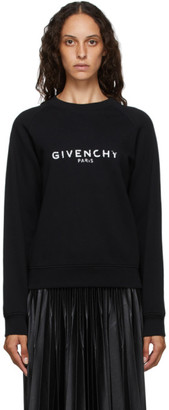 Givenchy Black Paris Logo Sweatshirt