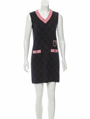 Chanel Paris-Edinburgh Cashmere Dress Navy