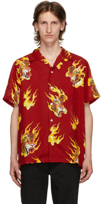 Wacko Maria Red Tim Lehi Hawaiian Short Sleeve Shirt