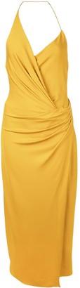 Cushnie halter neck wrap dress