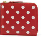 Comme des Garcons Printed Leather Wallet - Red