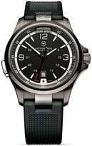 Swiss Army Victorinox Nightvision Black Ice Watch with Rubber Strap, 42mm