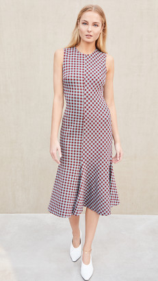 Rosetta Getty Fluted Dress Gingham