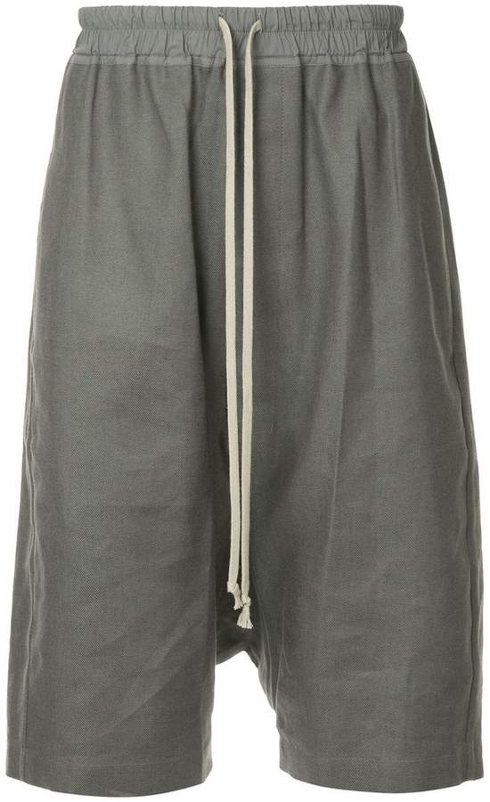 Rick Owens drop-crotch bermuda shorts