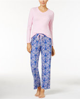 Jockey Knit Top and Printed Pants Pajama Set