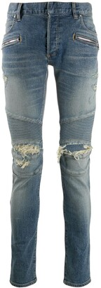 Balmain Slim-Fit Ripped Jeans