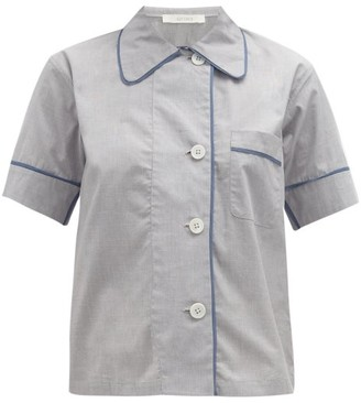Araks Shelby Cotton Pyjama Shirt - Womens - Light Blue