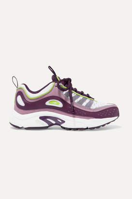 Reebok Daytona Dmx Ii Leather And Mesh Sneakers - Violet