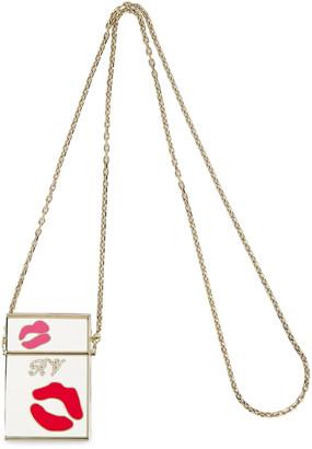 Roger Vivier Wild Kiss Embellished Gold-tone And Enamel Cigarette Case