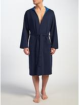 Hugo Boss Boss Double Face Hooded Robe, Navy/blue