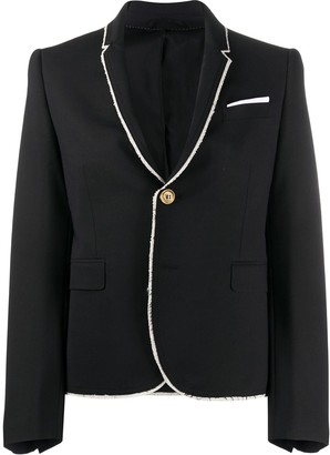 Neil Barrett Frayed Edge Blazer