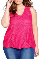 Addition Elle Plus Crochet Tank Top