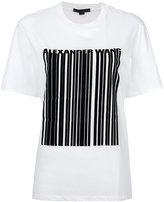 Alexander Wang barcode logo printed T-shirt