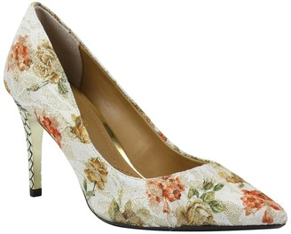 J. Renee Maressa Floral Print Pointed Toe Pump