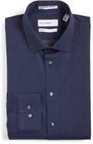 Men's Calibrate Trim Fit Non-Iron Microdot Dress Shirt