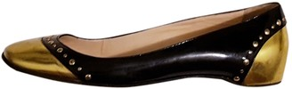 Christian Louboutin Gold Patent leather Ballet flats