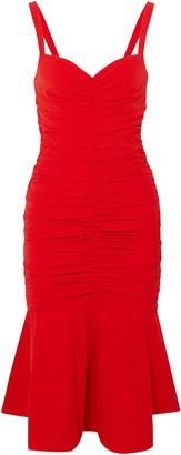 Rebecca Vallance Brescia Ruched Stretch-poplin Dress