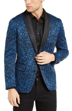 INC International Concepts Inc Men's Big & Tall Paint Splatter Knit Blazer, Created for Macy's