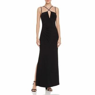 Laundry by Shelli Segal Women's Matte Jersey Criss Cross Front Gown