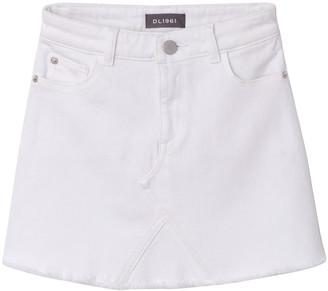 DL1961 Jenny Raw-Edge Mini Skirt, Size 7-18