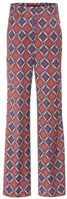 Etro Printed wide-leg wool trousers