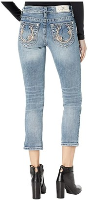 Miss Me Mid-Rise Capris in Medium Blue (Medium Blue) Women's Jeans