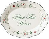 """Pfaltzgraff Winterberry """"Bless This House"""" Serving Plate"""