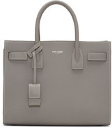 Saint Laurent Grey Baby Sac de Jour Tote