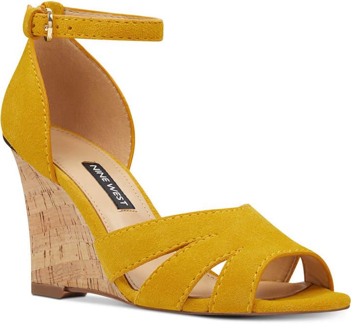 96e4d9a8b4 Nine West Suede Wedge Shoes - ShopStyle