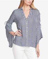 Jessica Simpson Juniors' Michi Gingham Lace-Up Shirt