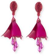 Oscar de la Renta Small Impatiens Flower Drop Earrings