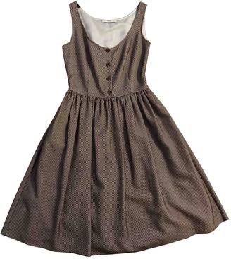 Prada Brown Cotton Dresses