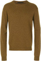 Haider Ackermann crew neck jumper - men - Leather/Cashmere/Wool - S