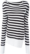 MM6 MAISON MARGIELA slit sleeve striped pullover - women - Viscose - S