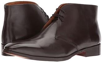 Carlos by Carlos Santana Corazon Chukka Boot (Black Full Grain Calfskin Leather) Men's Lace-up Boots