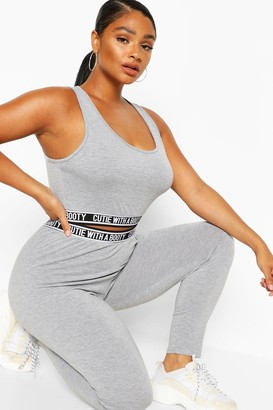 boohoo Plus 'Cutie With A Booty' Legging Set